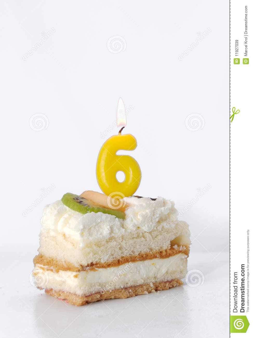 Birthday Cake 6 Year Royalty Free Stock Images Image