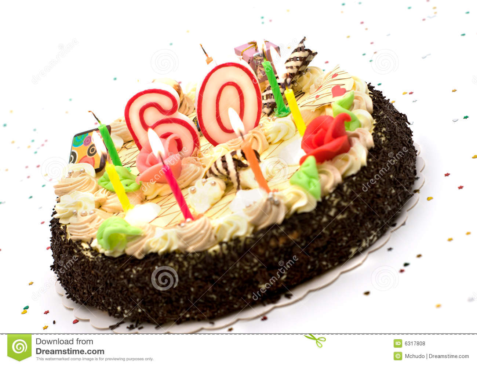 Birthday Cake For 60 Years Jubilee