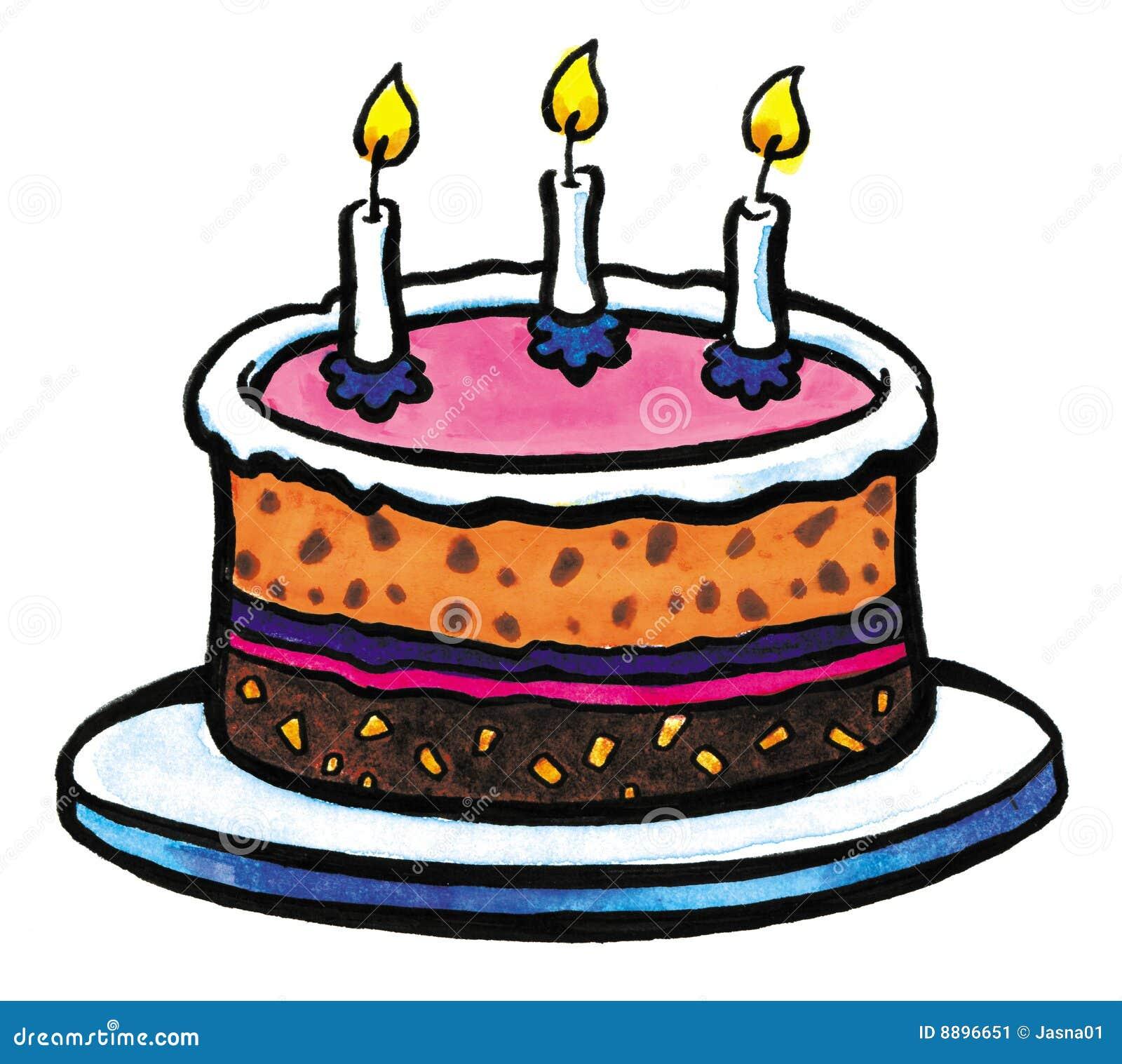 Two Years Birthday Cake Stock Photo