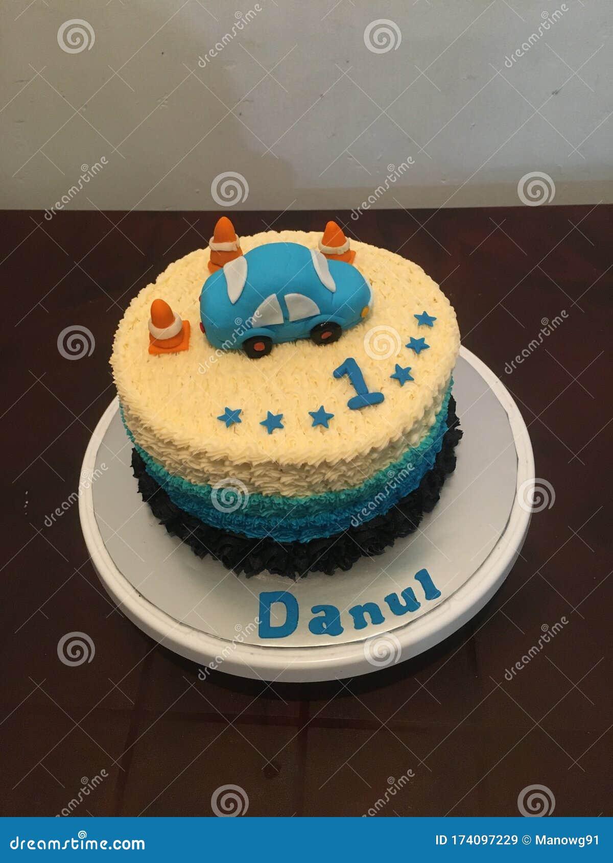 Awe Inspiring Birthday Cake For Baby Boy Stock Image Image Of Baby 174097229 Birthday Cards Printable Opercafe Filternl