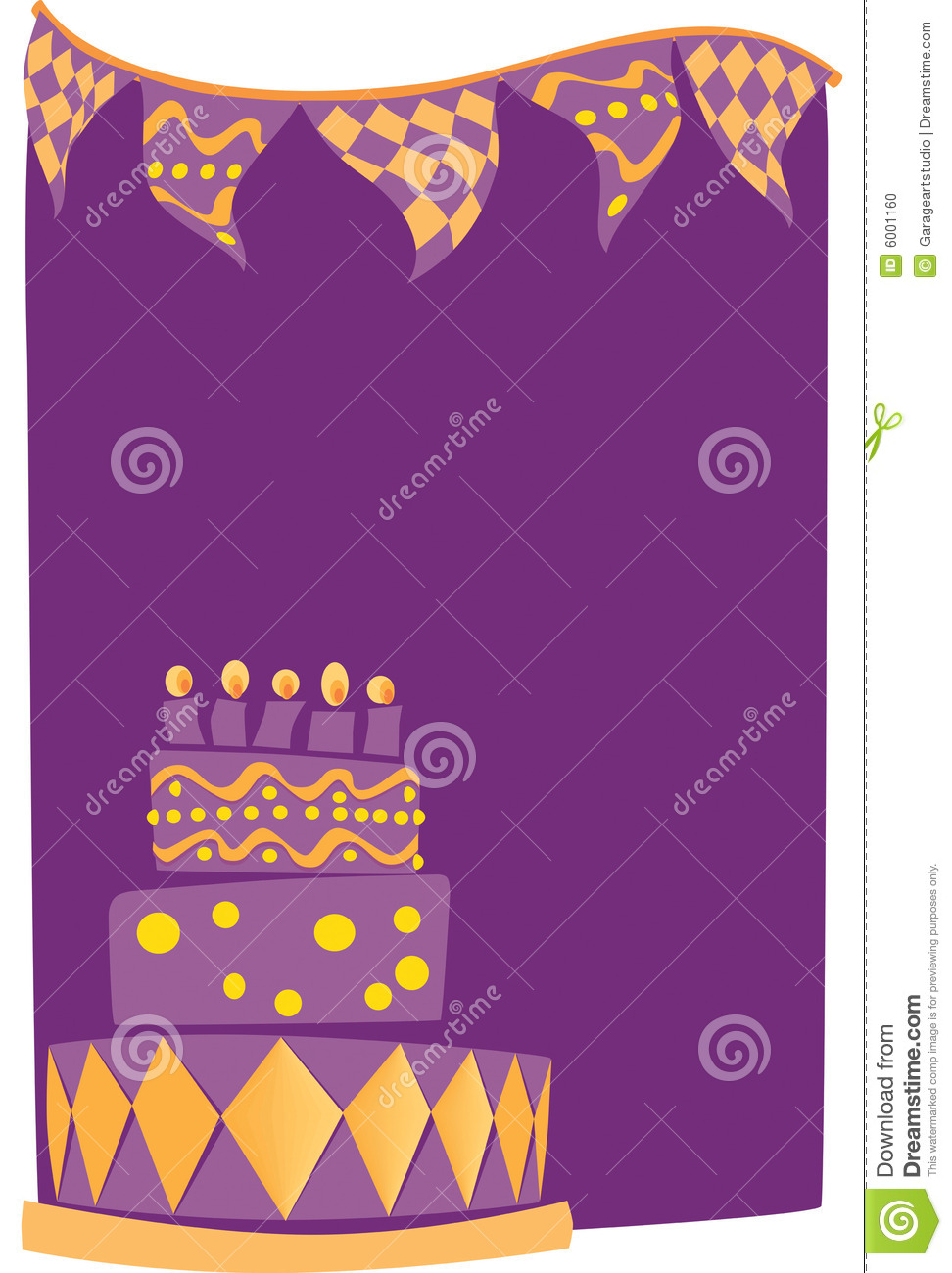 Birthday Cake Background Stock Photo - Image: 6001160
