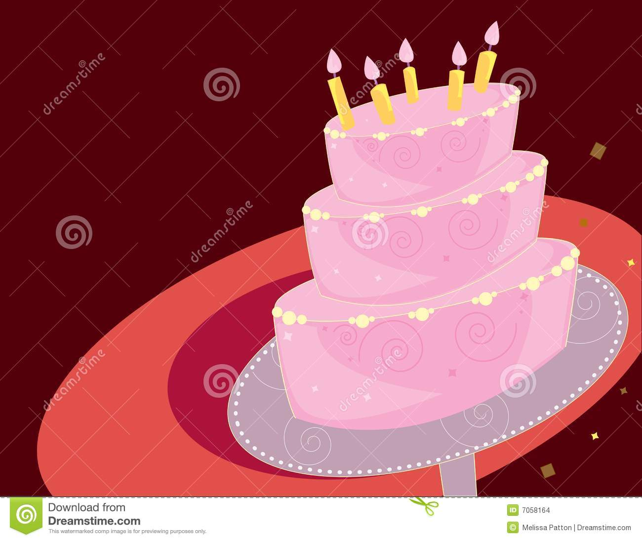 Birthday Cake Background Stock Images - Image: 7058164