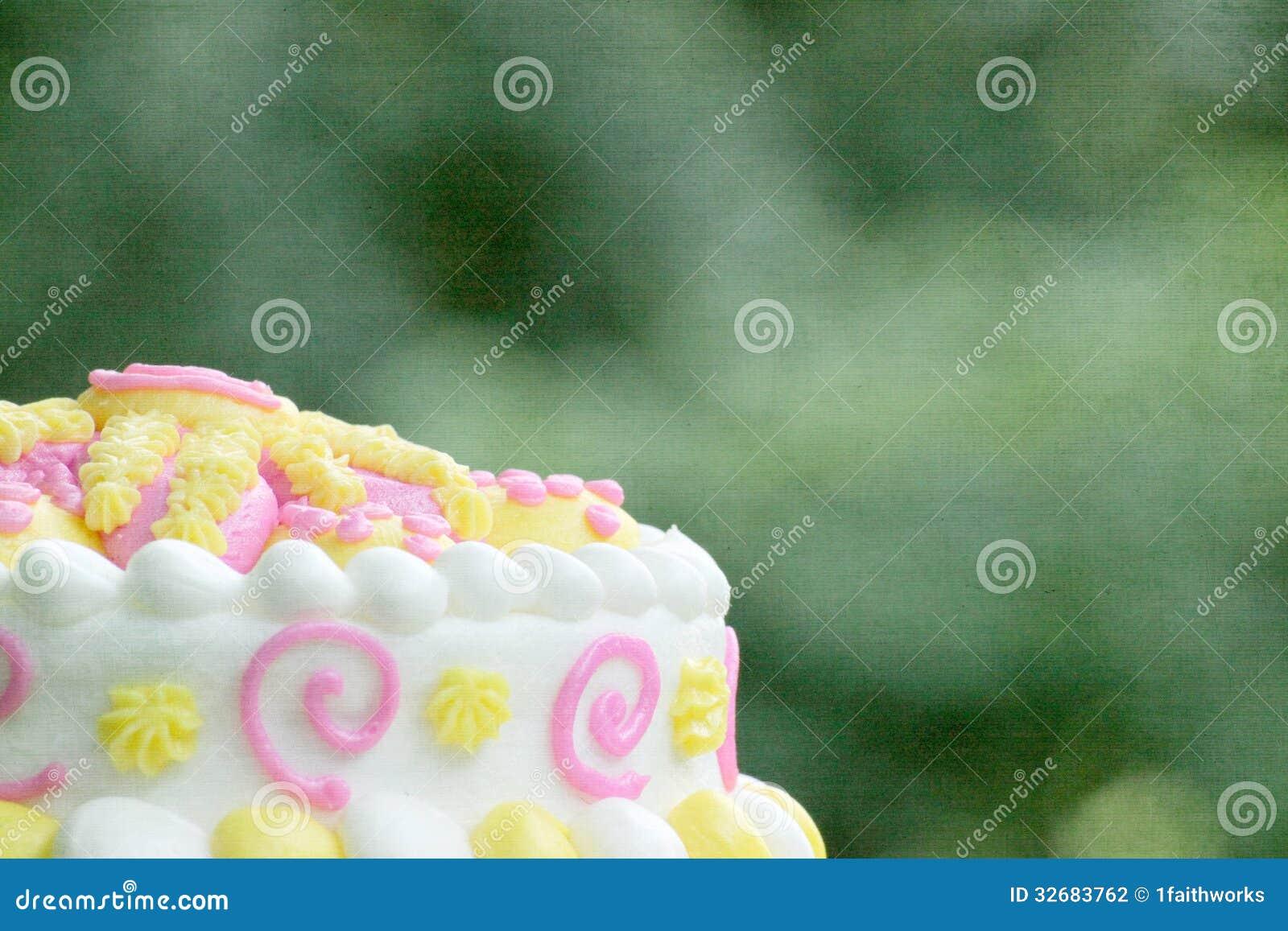 Birthday Cake Background stock photo  Image of texture