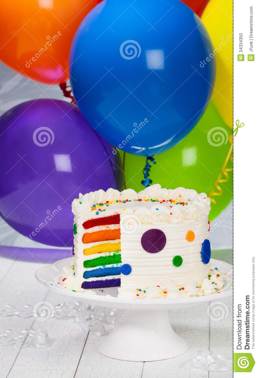 birthday cake and balloons birthday cake with balloons stock photo image 34334350 1729