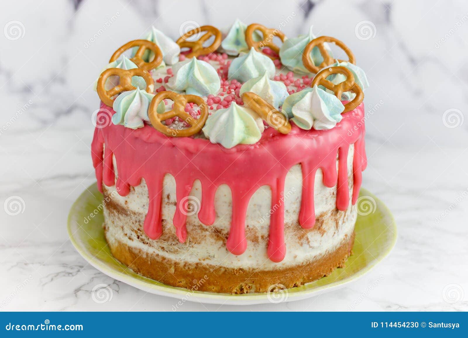 Birthday Cake Stock Photo Image Of Burn Baby Candle