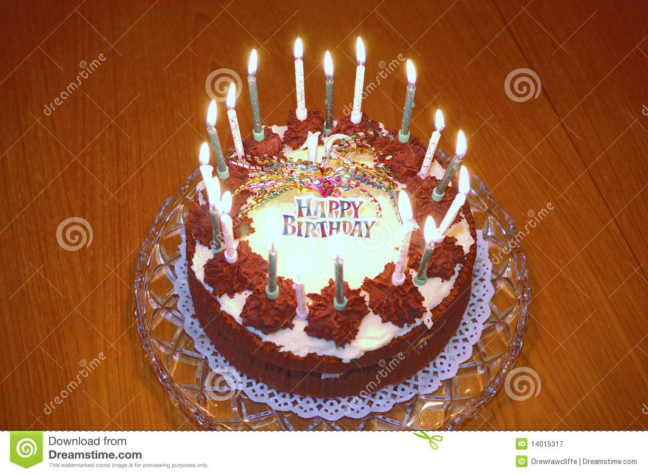 Birthday Cake Burning Royalty Free Stock Photography