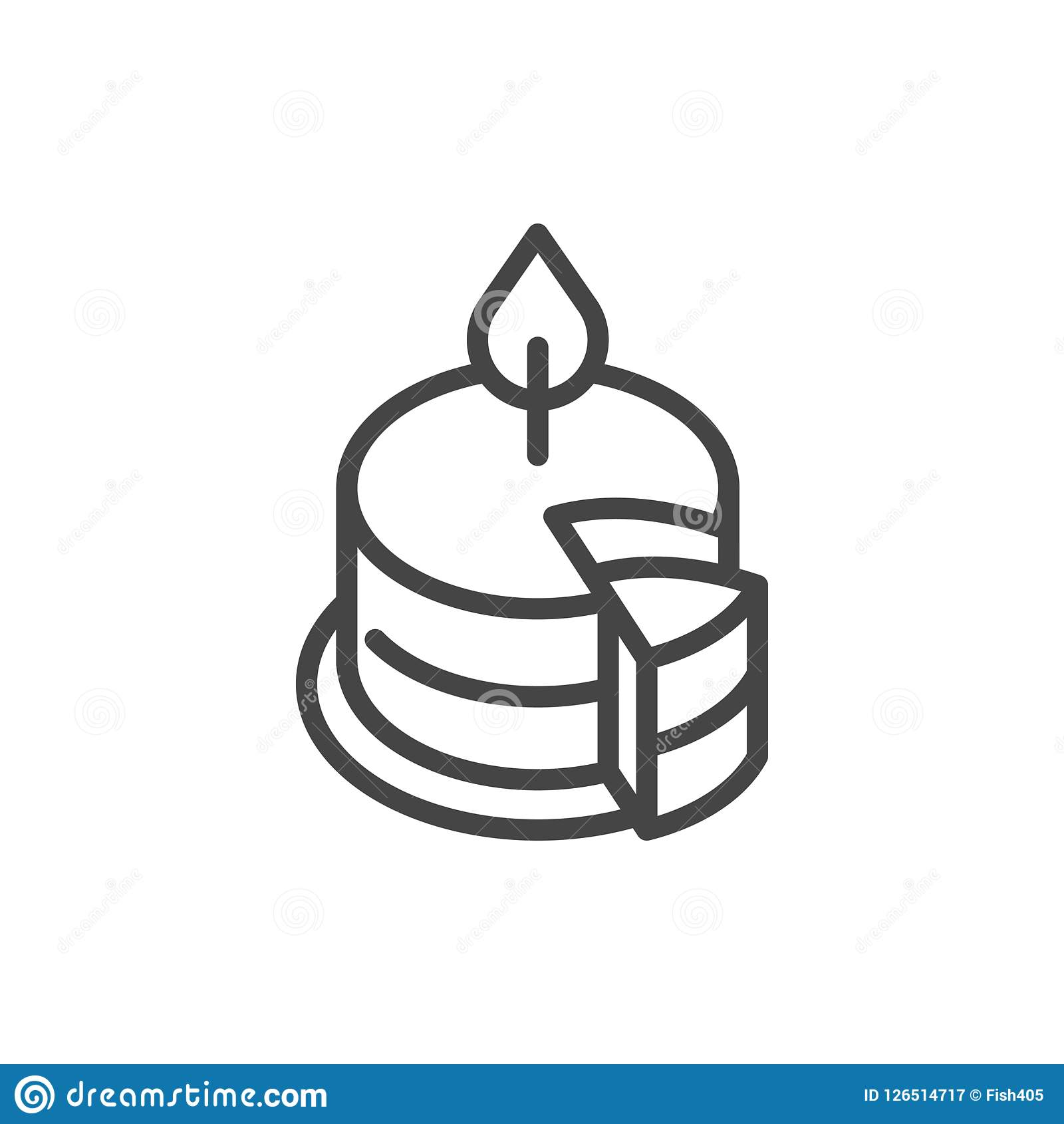 Birthday Candle Outline Clipart All About Clipart