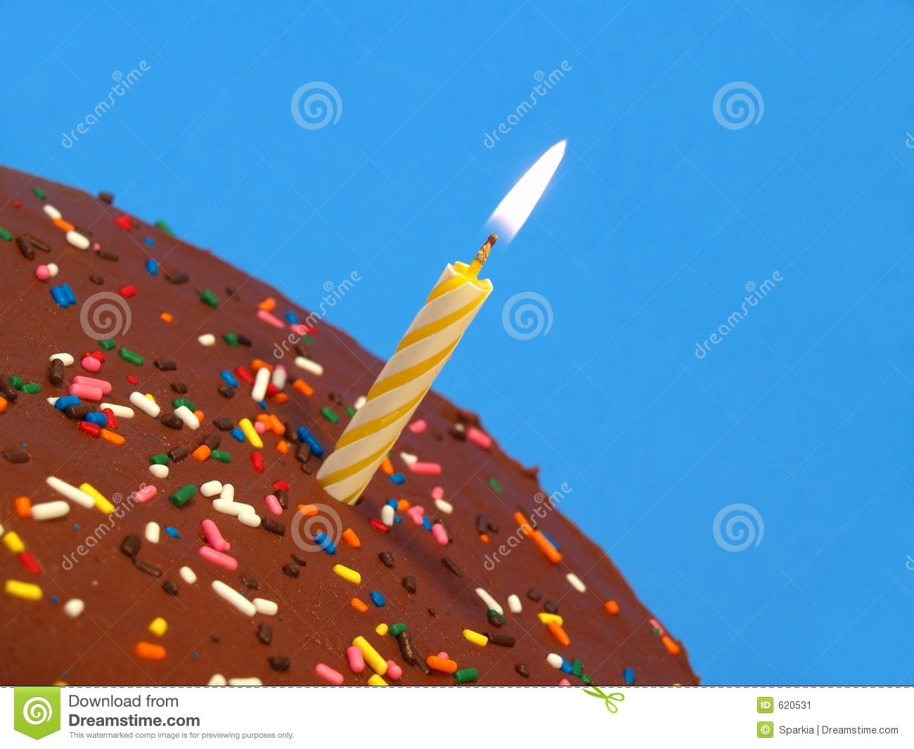 Download Birthday cake with candle stock image. Image of candle - 620531