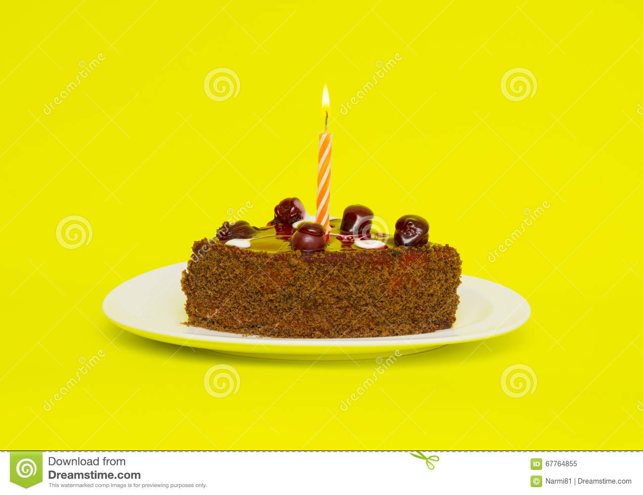 Birthday Chocolate Cake Wallpaper