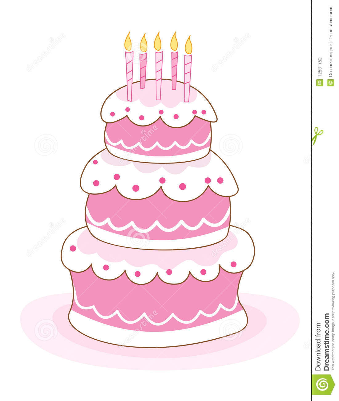 Purple Birthday Candle Clipart Birthday cake with can...