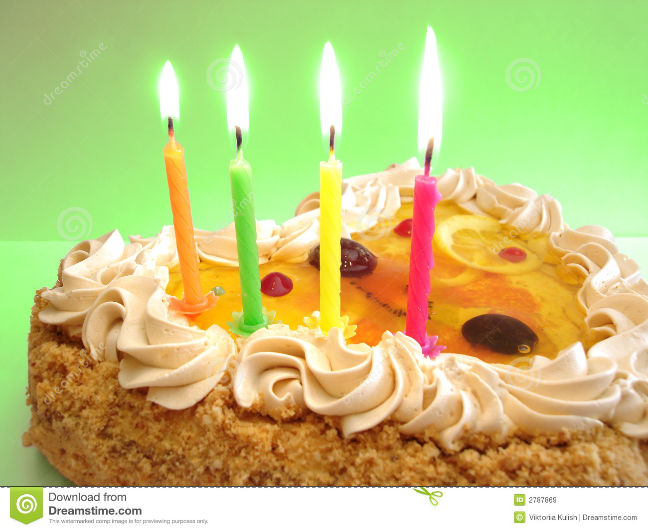 Birthday Cake Images With Candles Free : Birthday Cake And Candles Royalty Free Stock Images ...