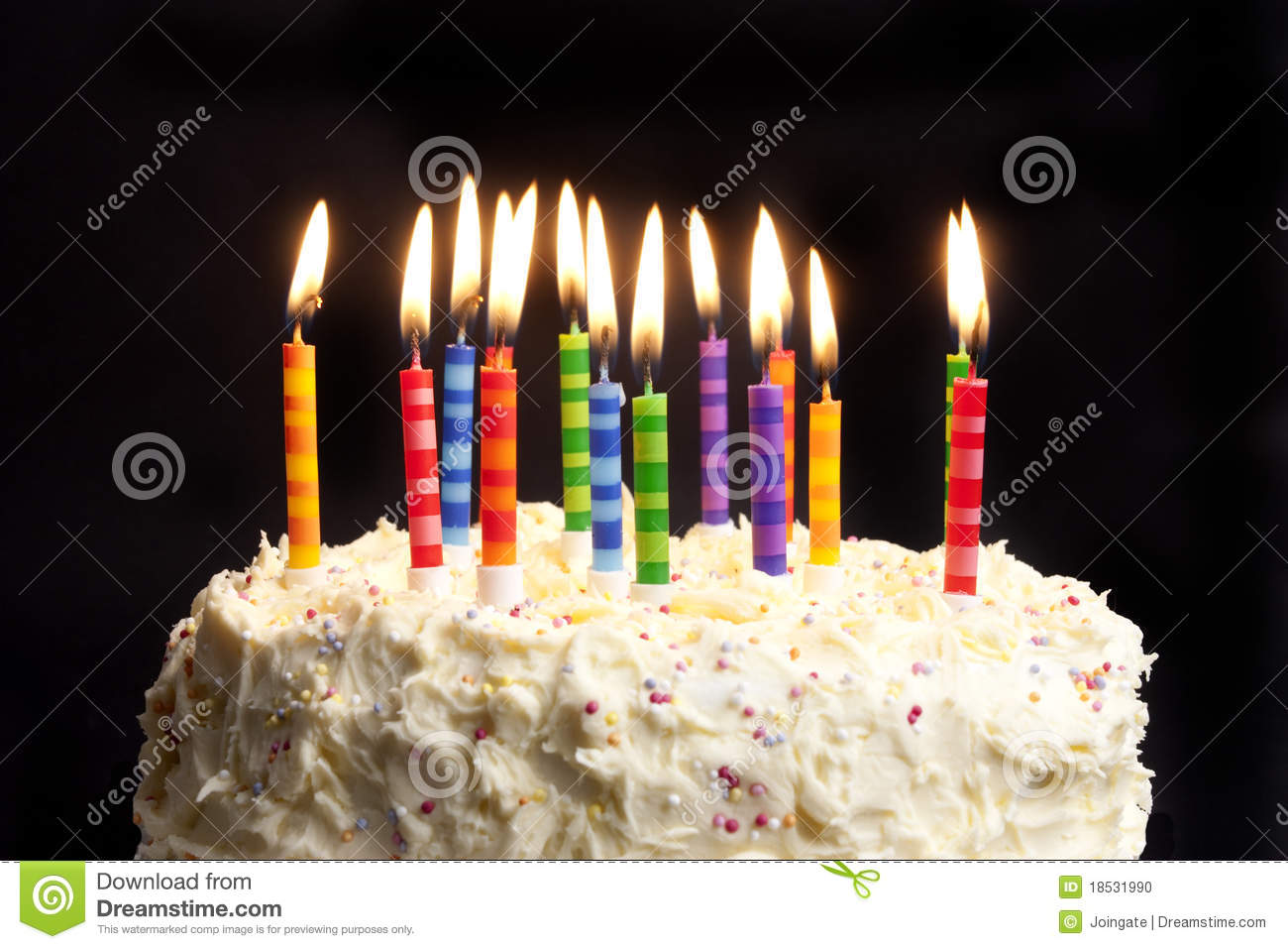Birthday Cake Candles Black Background Stock Images 935 Photos