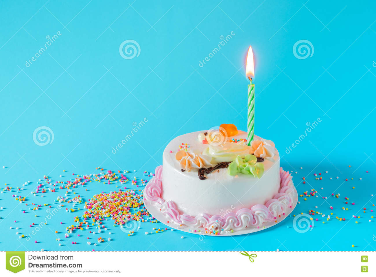 Swell Birthday Cake With Candles On Color Background Stock Image Image Personalised Birthday Cards Cominlily Jamesorg