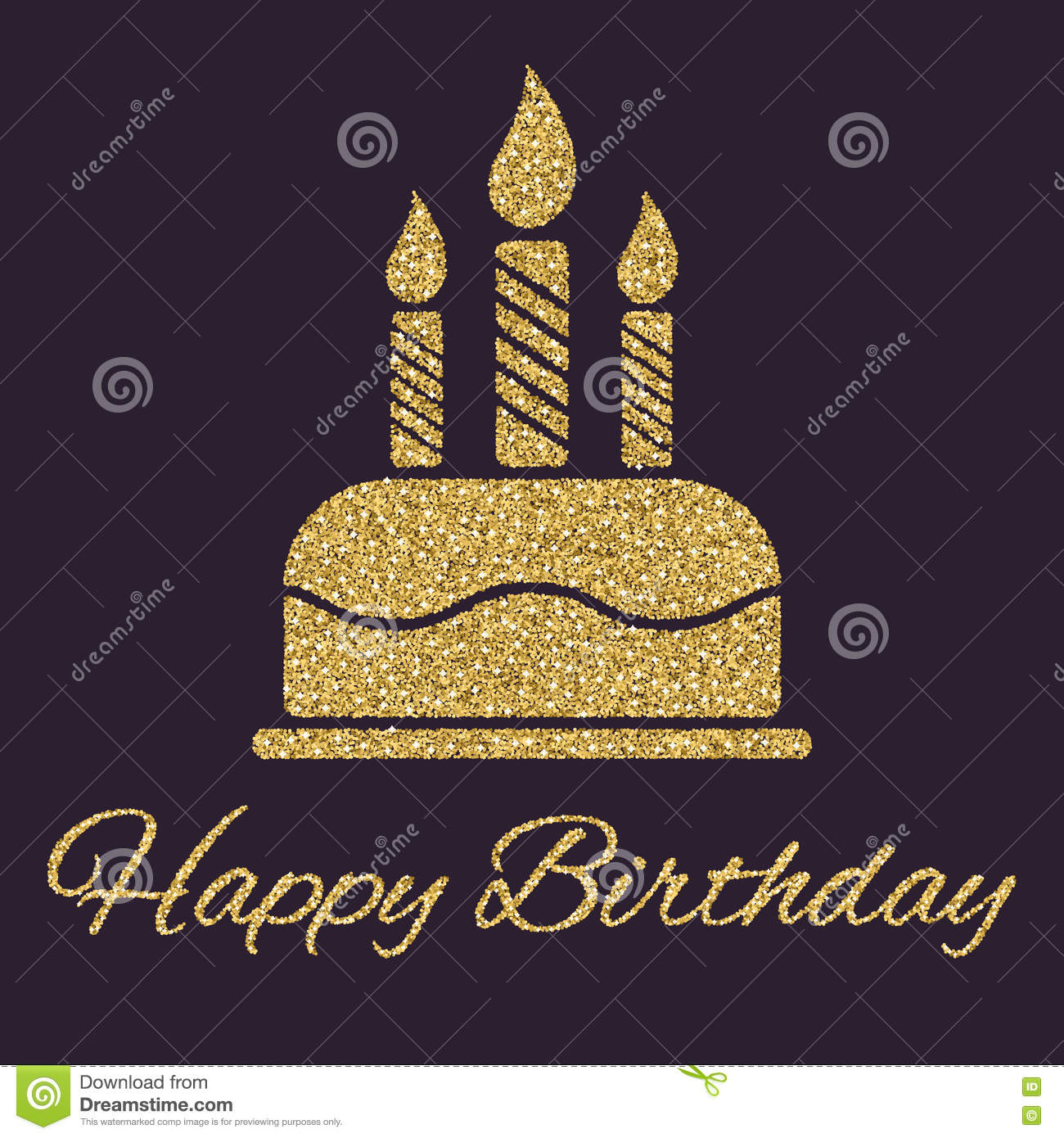 The birthday cake with candles dessert symbol gold sparkles and the birthday cake with candles dessert symbol gold sparkles and glitter biocorpaavc