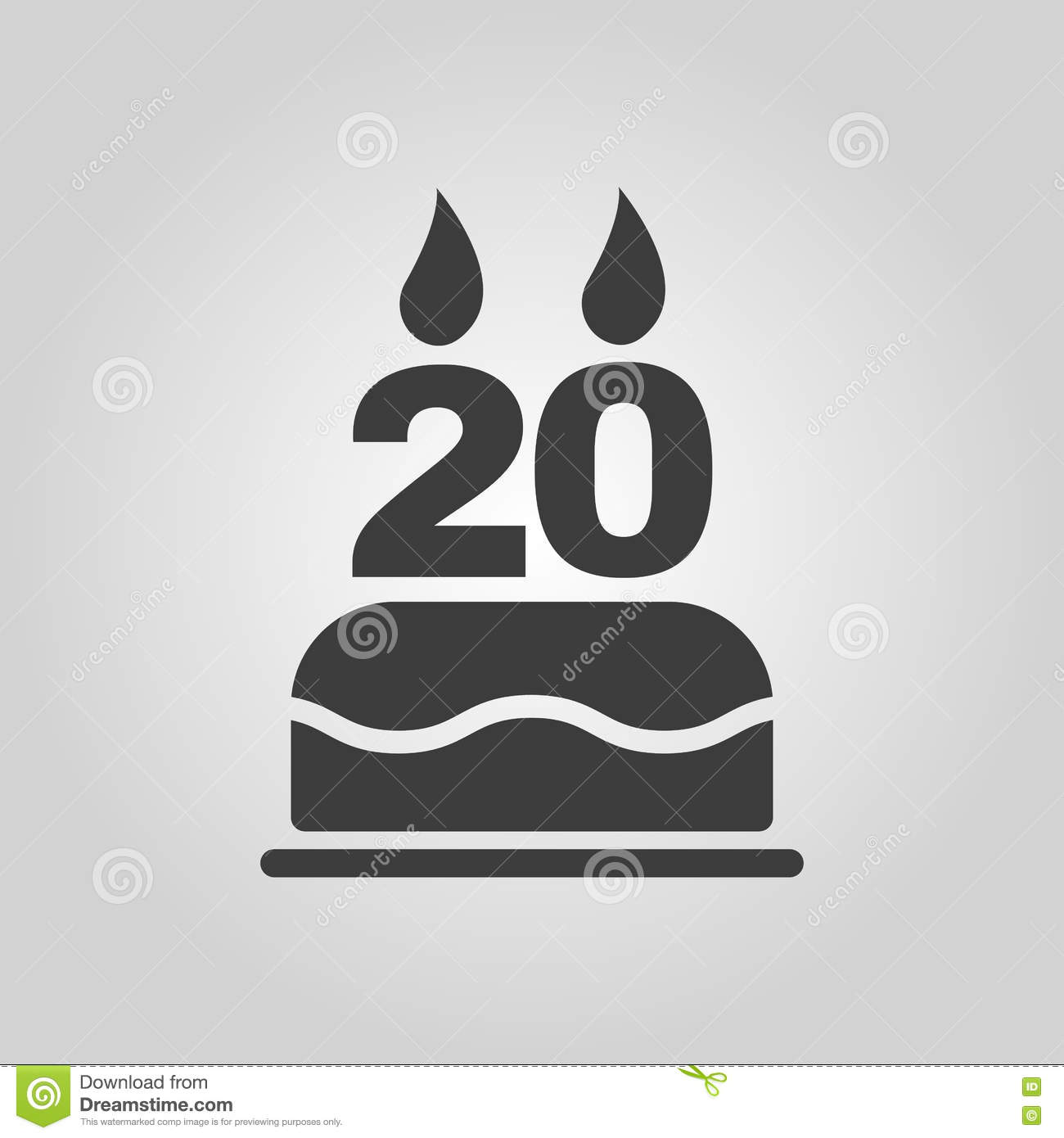 The birthday cake with candles in the form of number 20 icon the birthday cake with candles in the form of number 20 icon birthday symbol flat biocorpaavc