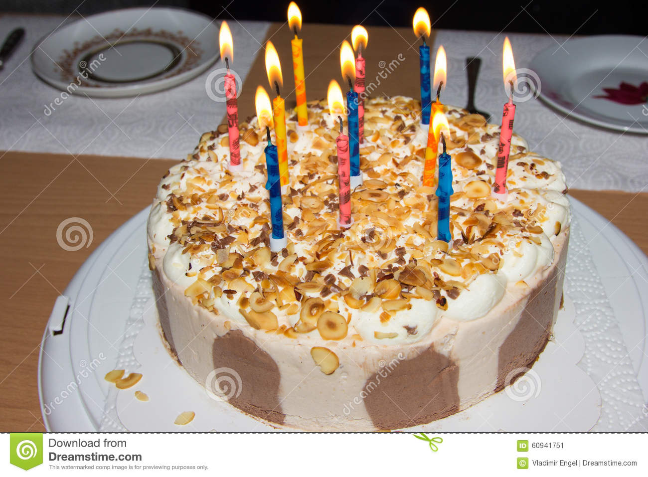 Birthday Cake Candles Happy Food Celebration Details Party