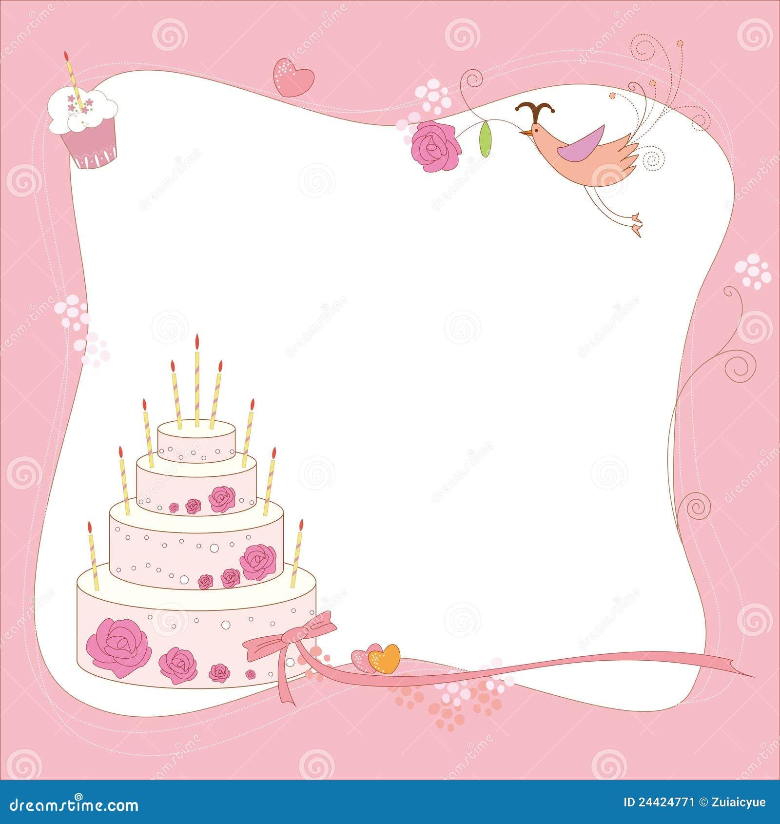 Birthday Cake Card Stock Image
