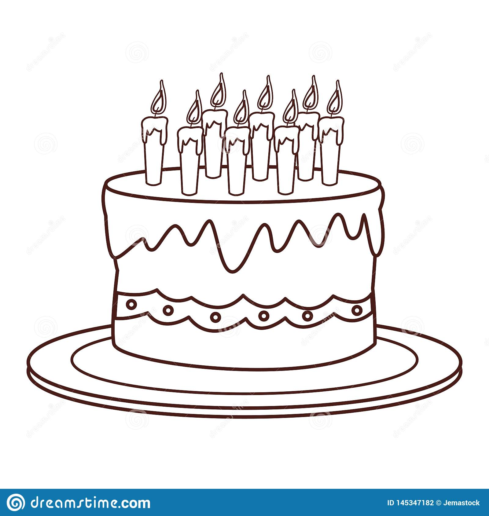 Stupendous Birthday Cake Cartoon Stock Vector Illustration Of Pastry 145347182 Funny Birthday Cards Online Inifodamsfinfo