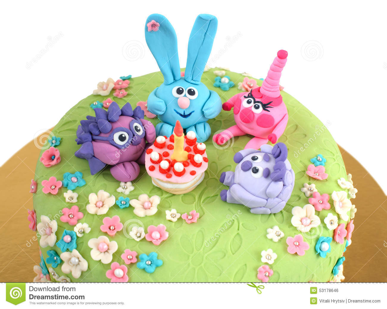 Birthday Cake For Child Stock Photo 53178646