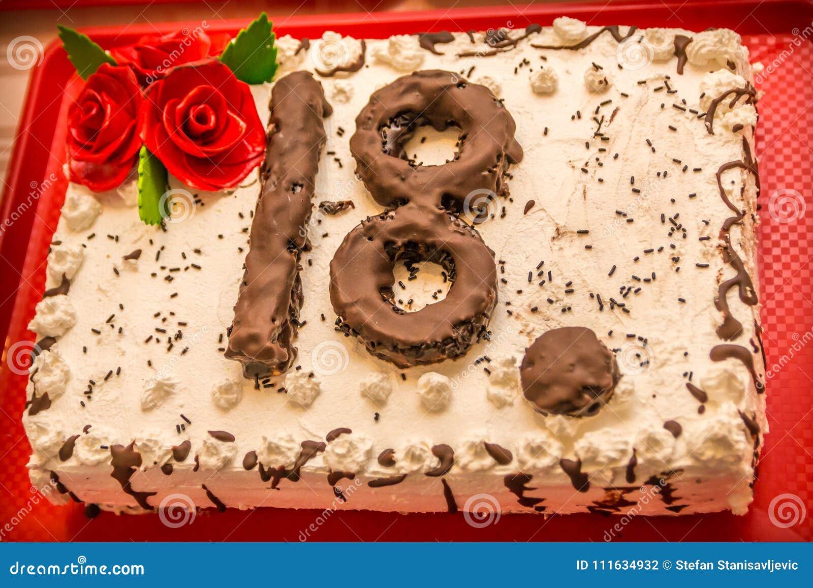 Birthday Cake 18 Stock Photo Image Of Gift Creative