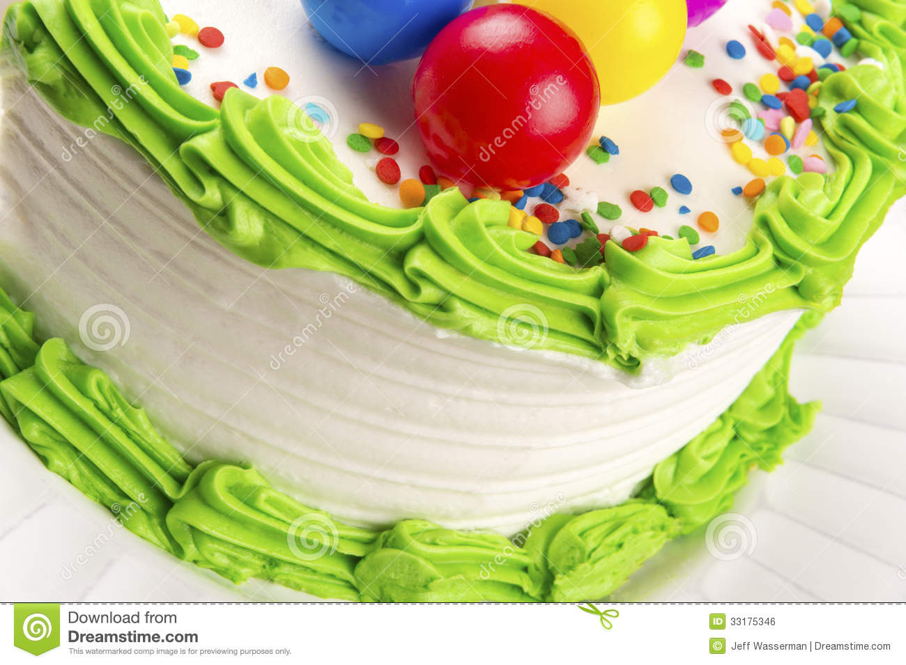 Birthday Cake Closeup Stock Photo Image Of Icing Delicious 33175346