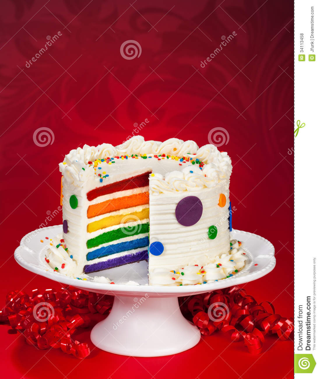 Birthday Cake stock photo Image of polka butter nobody 34113458