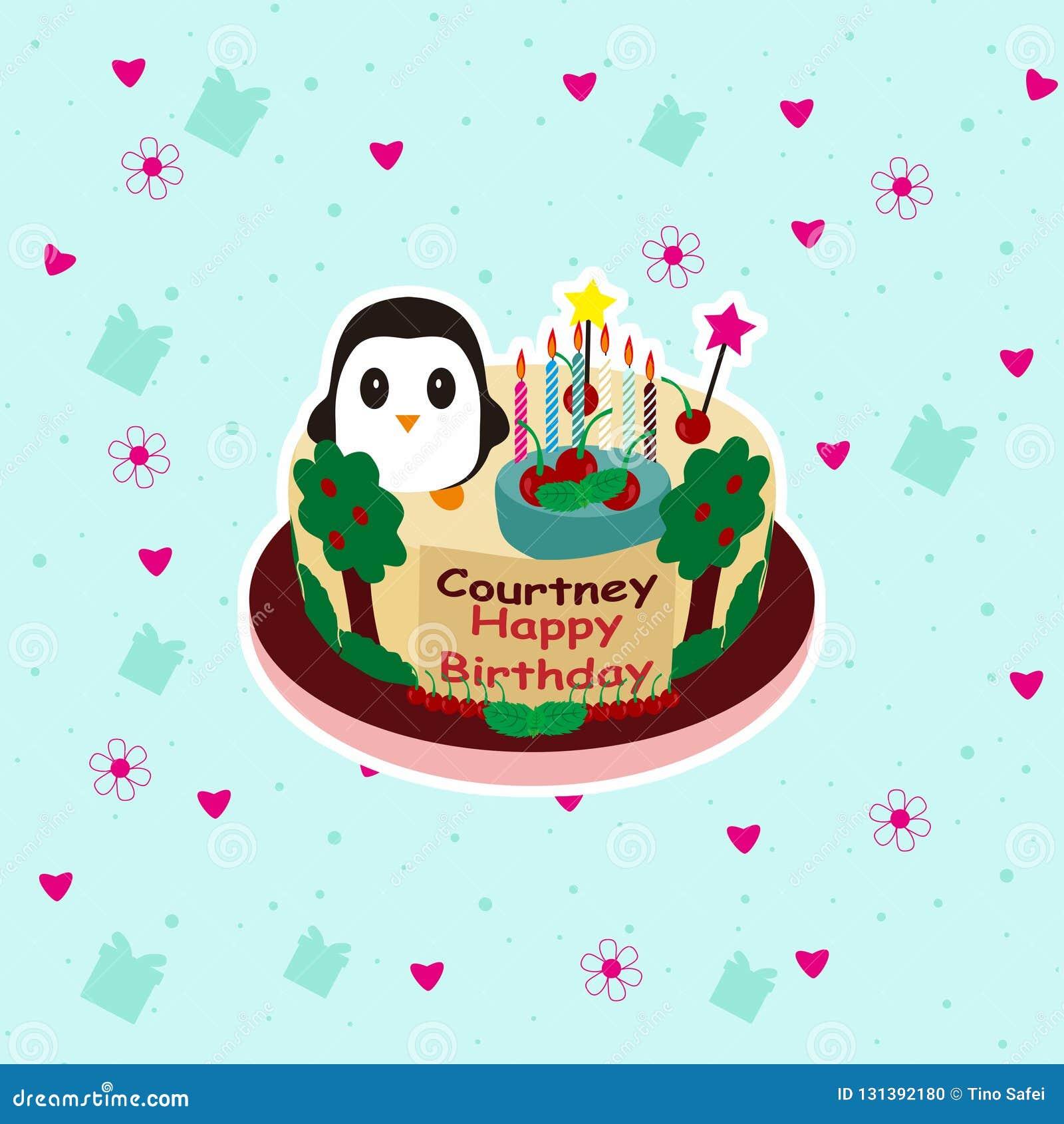 Fabulous Birthday Cake Cute Cartoon Stock Vector Illustration Of Chocolate Personalised Birthday Cards Vishlily Jamesorg