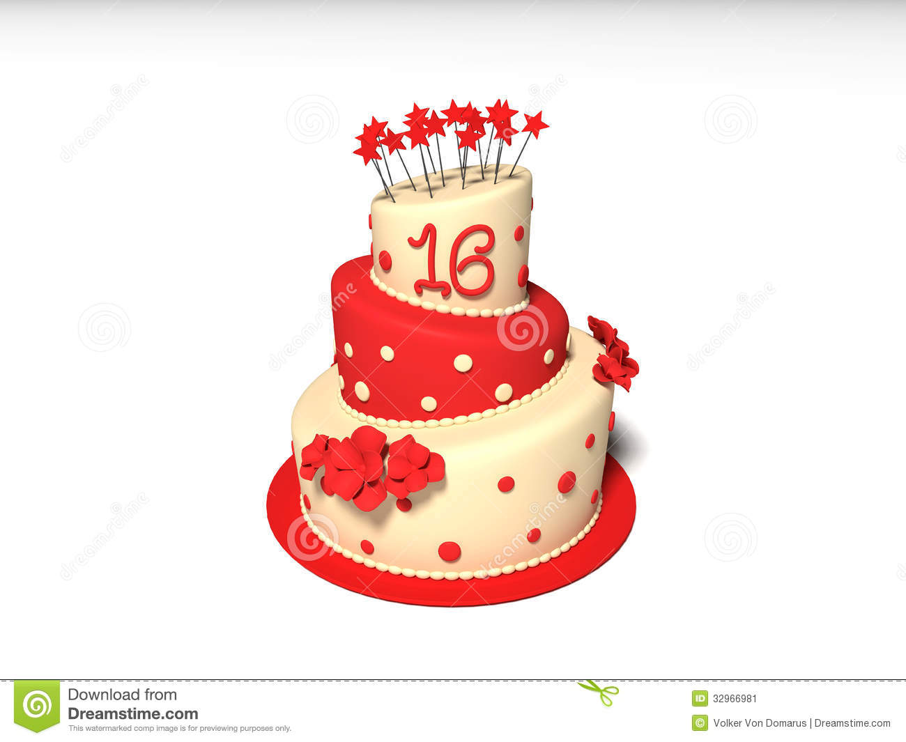 Birthday Cake Stock Image - Image: 32966981