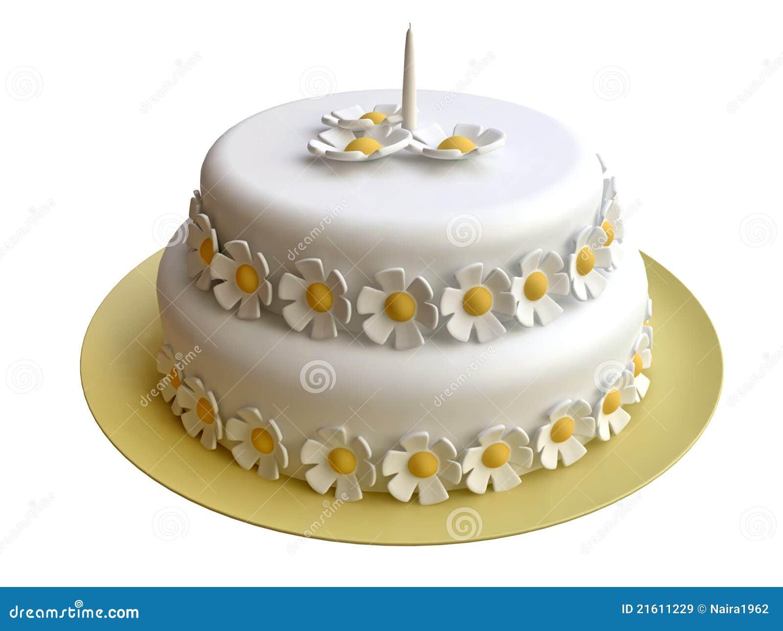 Birthday cake decorated with marzipan flowers stock illustration birthday cake decorated with marzipan flowers izmirmasajfo