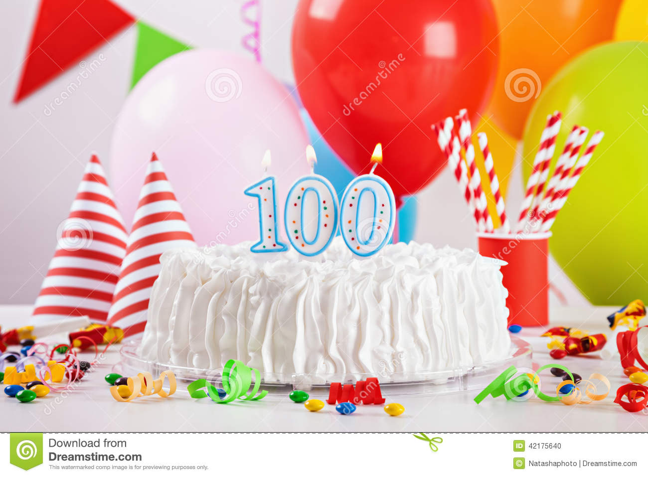Birthday cake and decoration stock photo image 42175640 for Balloon cake decoration