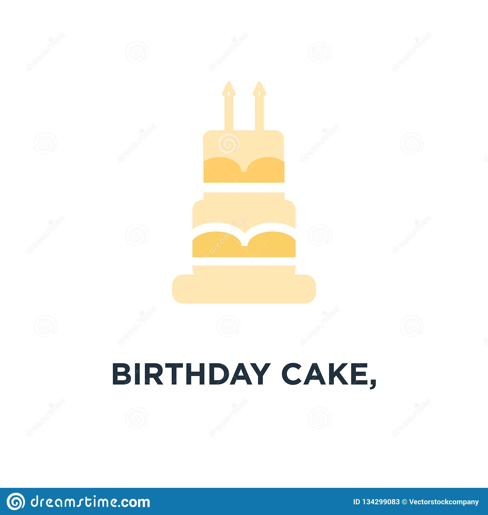 Fine Birthday Cake Birthday Dessert Icon Bakery Sweet Pie Concept Funny Birthday Cards Online Benoljebrpdamsfinfo