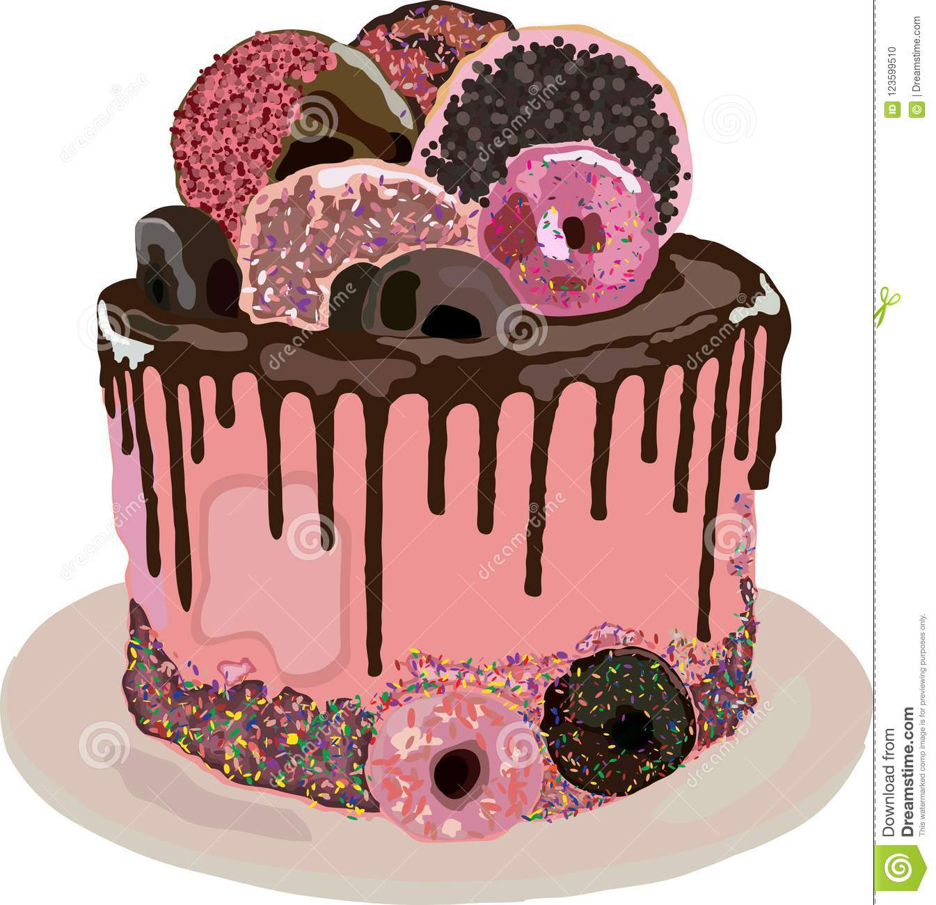 Birthday Cake With Donuts