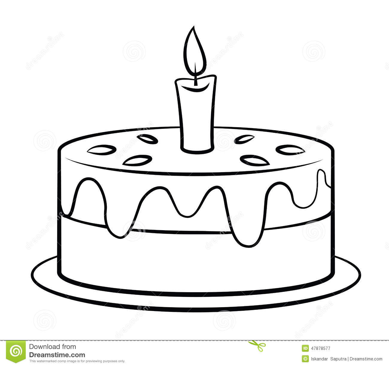 Birthday Cake stock vector. Image of black, style, party ...