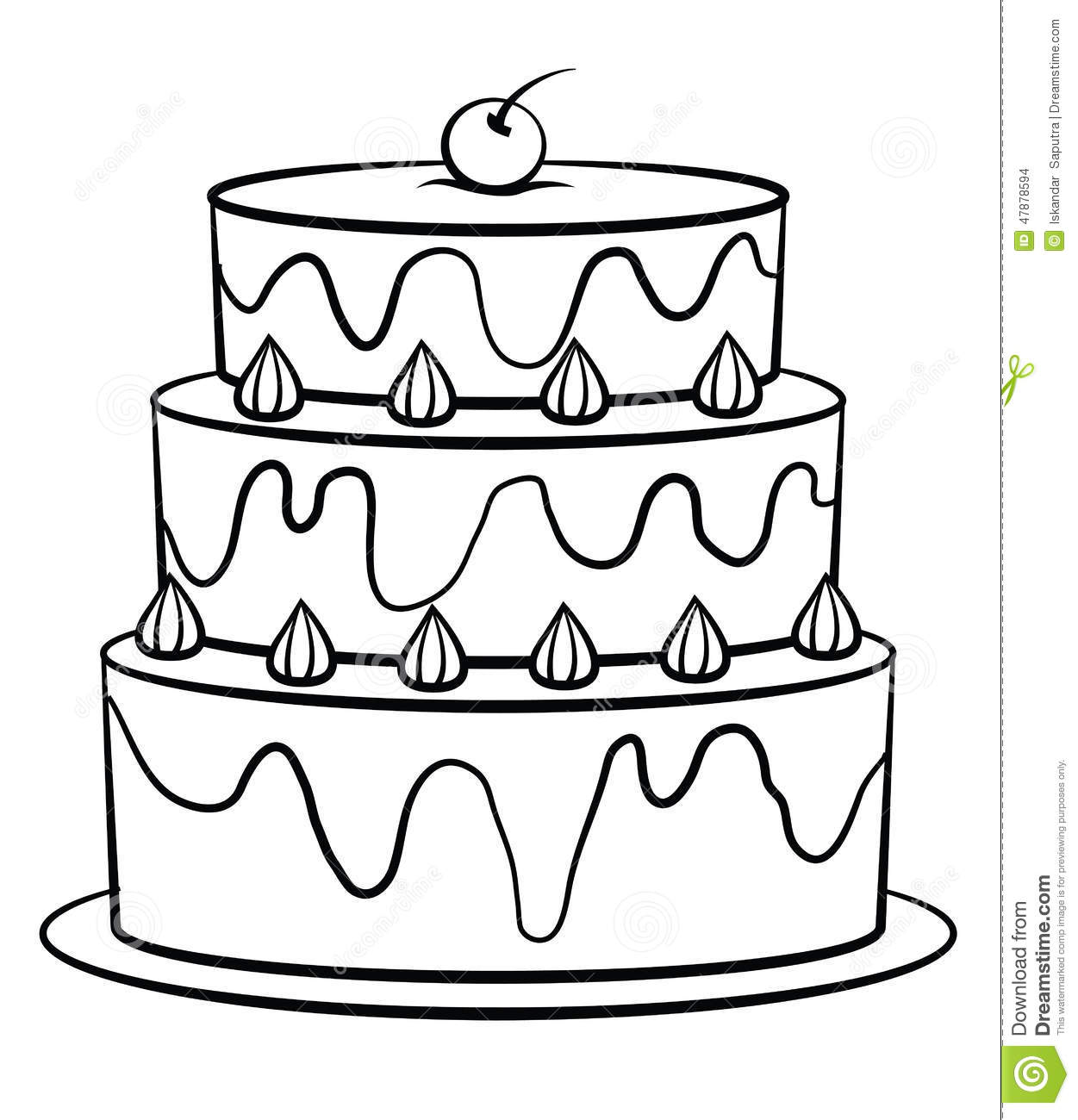 Birthday Cake Stock Vector Illustration Of Birthday 47878594