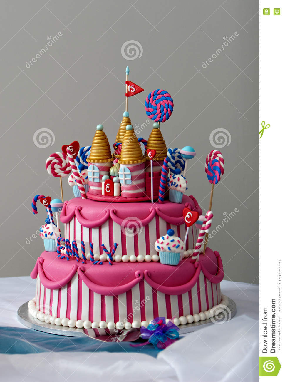 Outstanding Birthday Cake Stock Image Image Of Iced Multicolored 69701463 Funny Birthday Cards Online Aboleapandamsfinfo