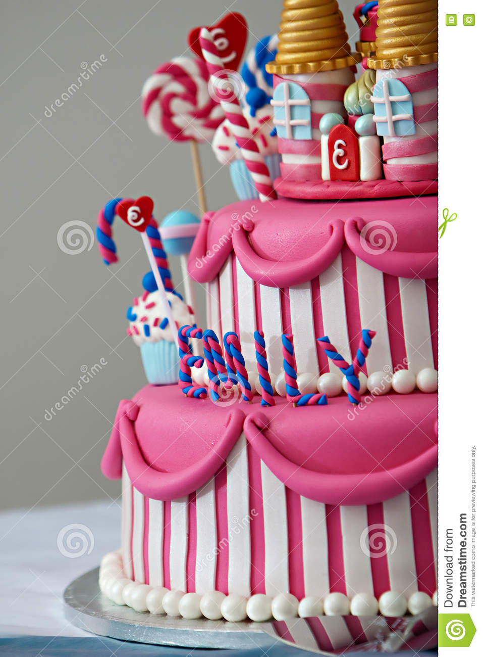 Brilliant Birthday Cake Stock Image Image Of Dessert White Candy 69701591 Funny Birthday Cards Online Aboleapandamsfinfo