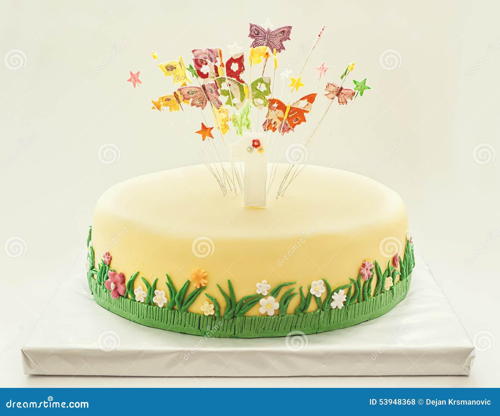Birthday Cake Stock Photo Image Of Baked Decor Gift 53948368