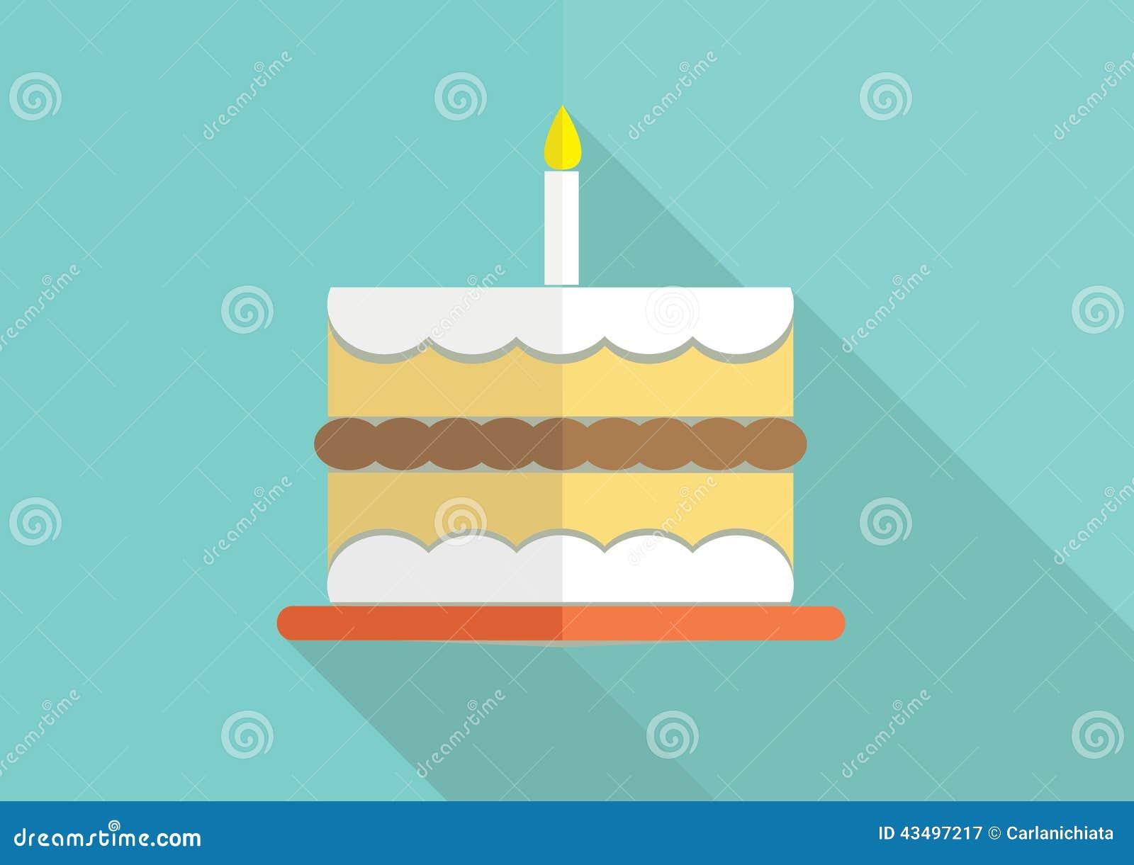 Birthday Cake Stock Vector Illustration Of Creative 43497217