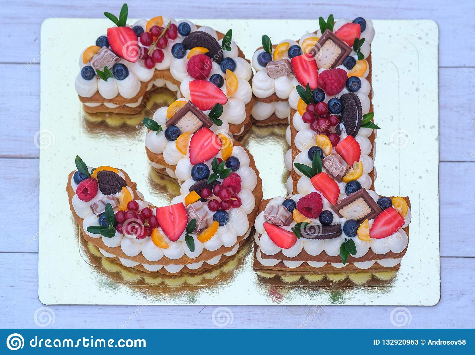 Remarkable Birthday Cake In The Form Of The Number Thirty One Stock Image Personalised Birthday Cards Akebfashionlily Jamesorg