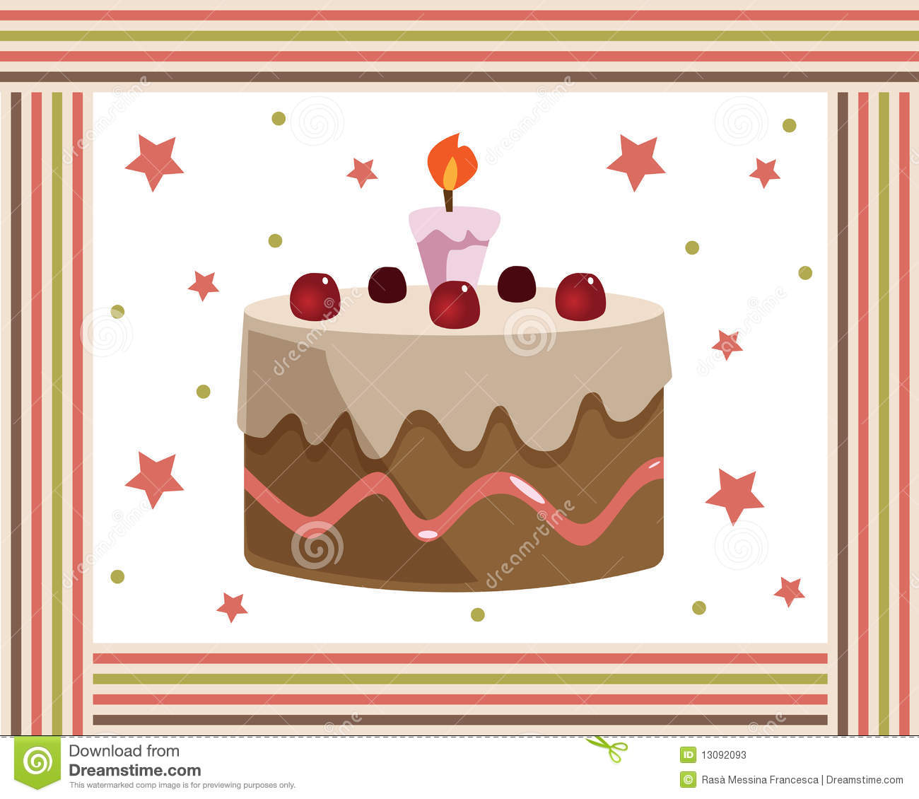 Birthday Cake Frame Stock Vector Illustration Of Invitation