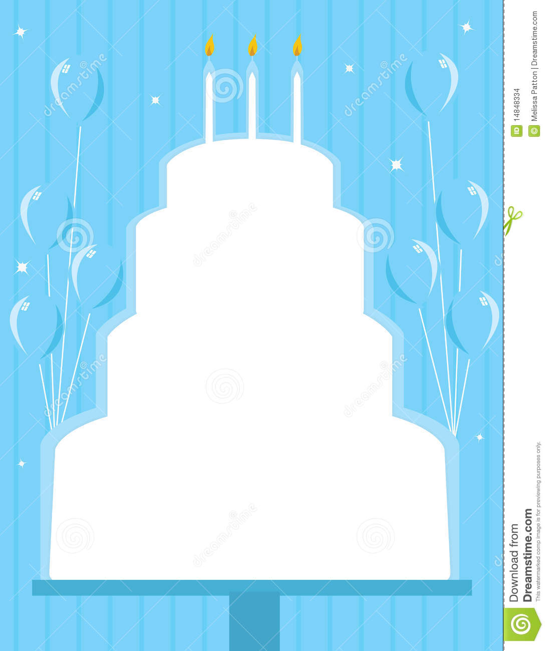 Birthday Cake Frame Background Stock Illustration - Illustration of