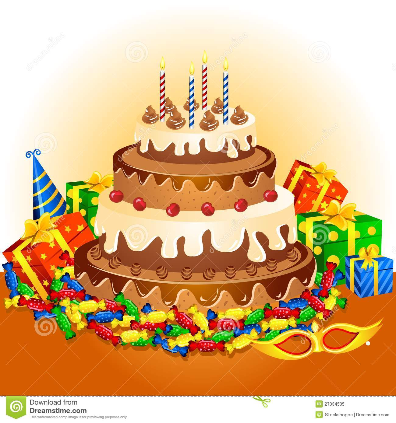 Birthday Cake Gift Images : Birthday Cake And Gifts Royalty Free Stock Photo - Image ...