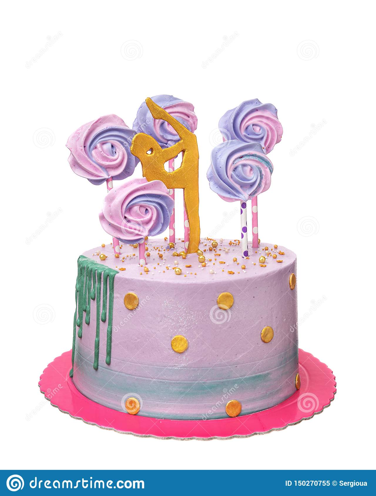 Astonishing A Birthday Cake For A Girl Gymnast Stock Image Image Of Personalised Birthday Cards Petedlily Jamesorg