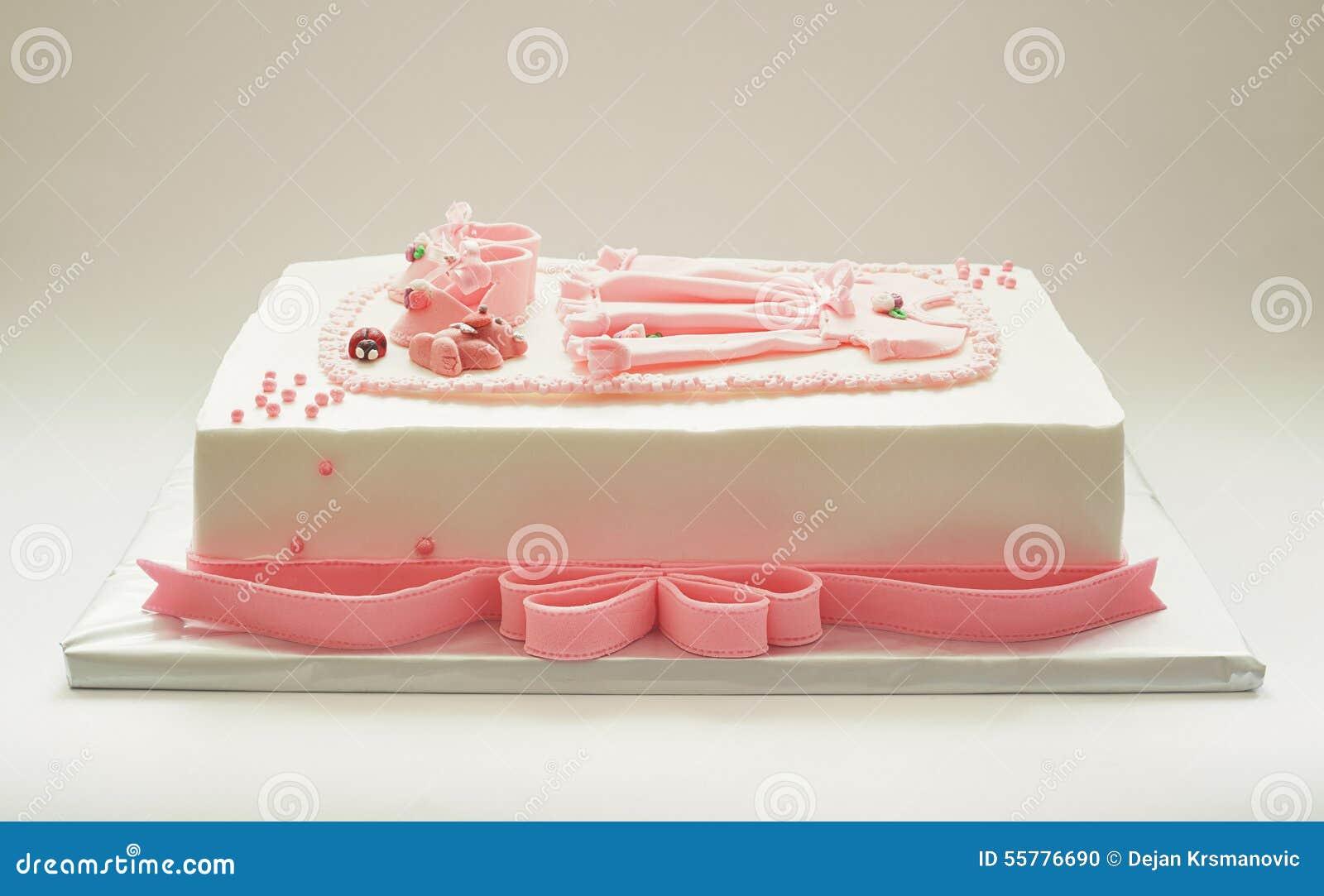 Birthday Cakes For Baby Girl ~ Birthday cake for girl stock photo. image of dessert 55776690