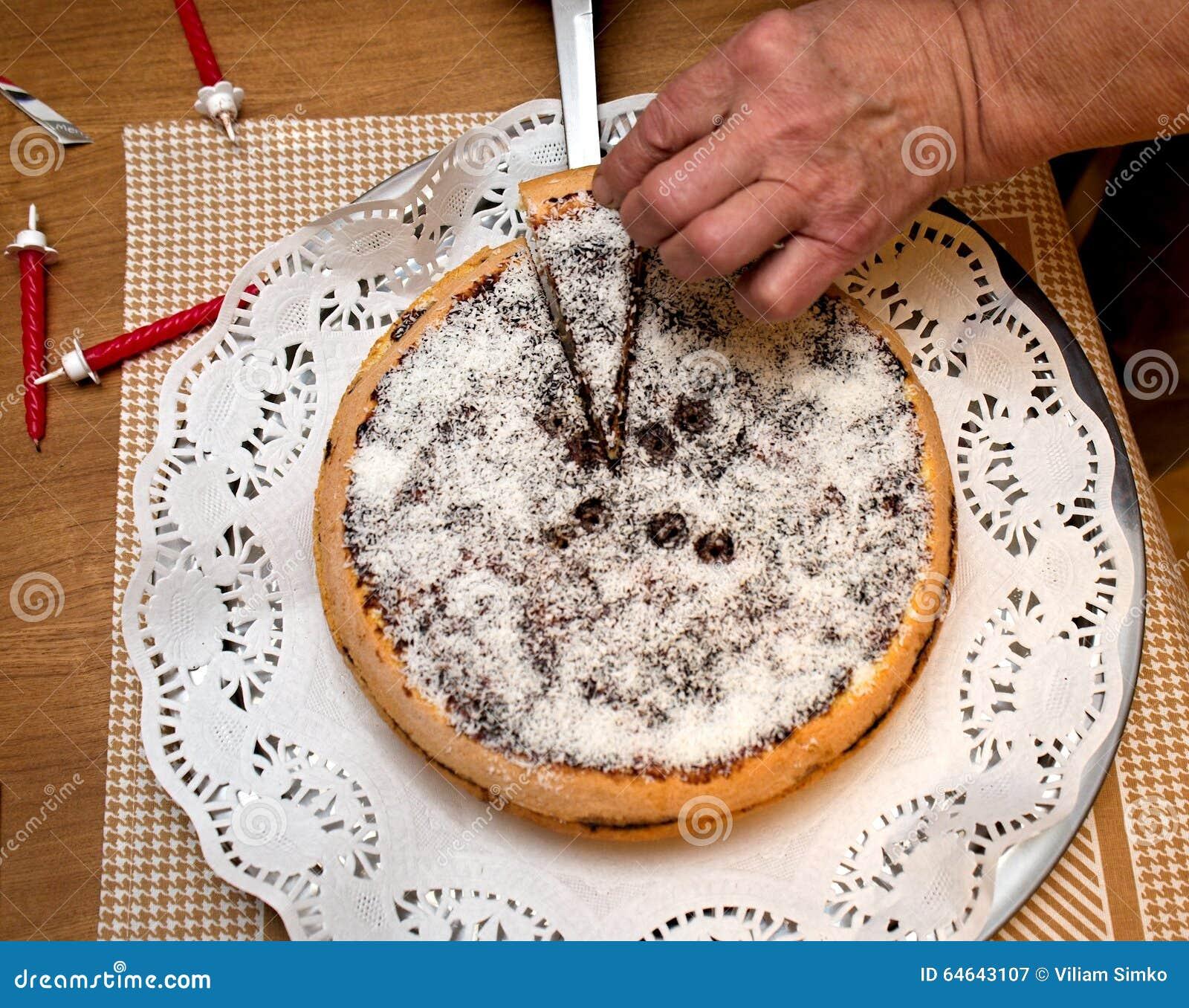 Astounding Birthday Cake From Grandma Stock Image Image Of Board 64643107 Personalised Birthday Cards Bromeletsinfo