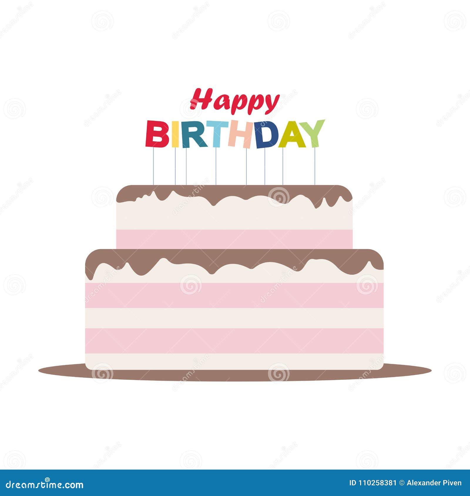 Birthday Cake Happy Birthday Cake Card Birthday Party Elements