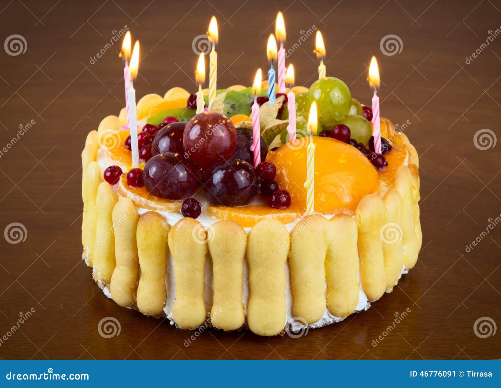 Birthday Cake Stock Image Of Food Space Light