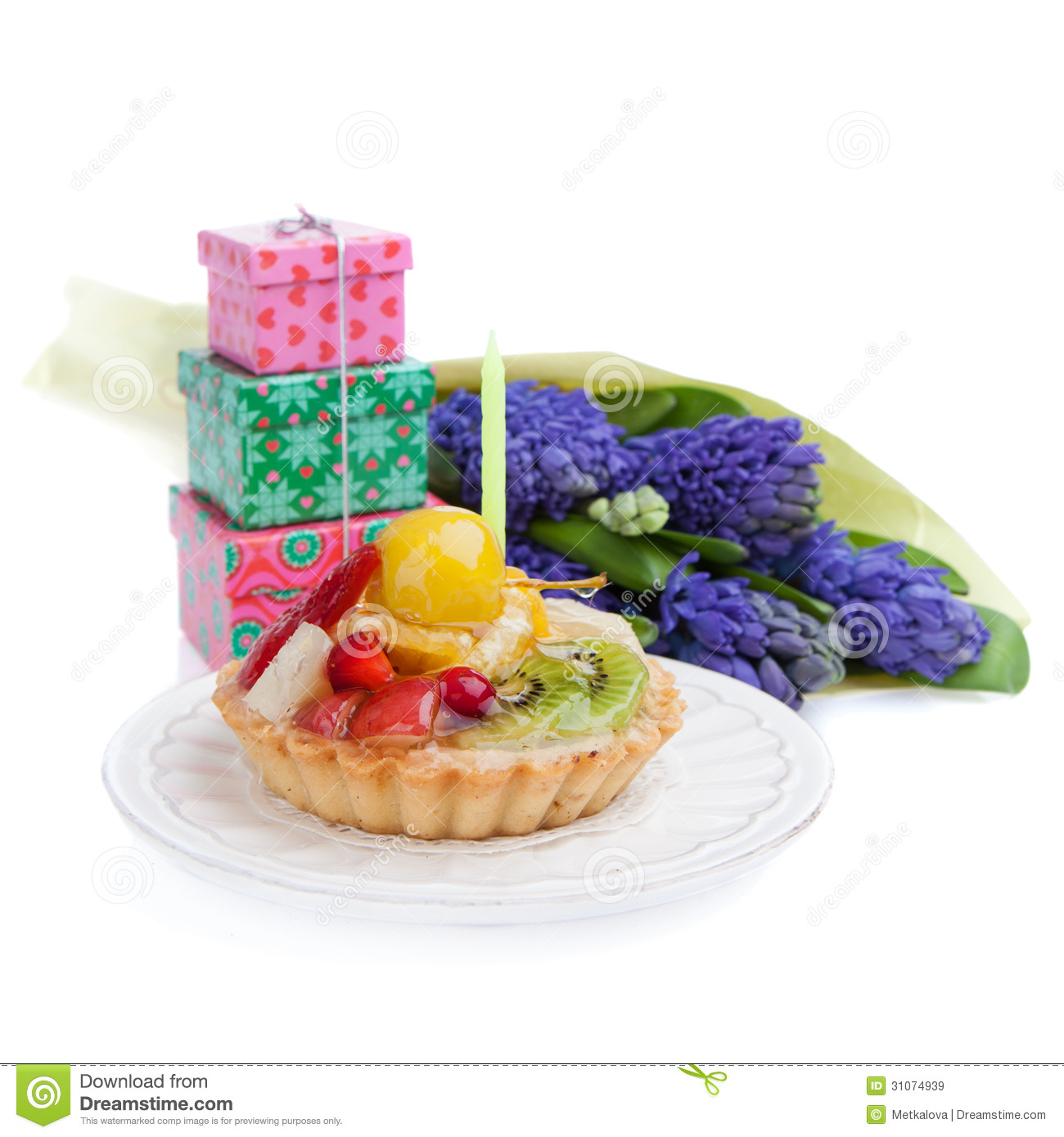 Birthday Cake Stock Image Image Of Cheerful Event Fruit 31074939