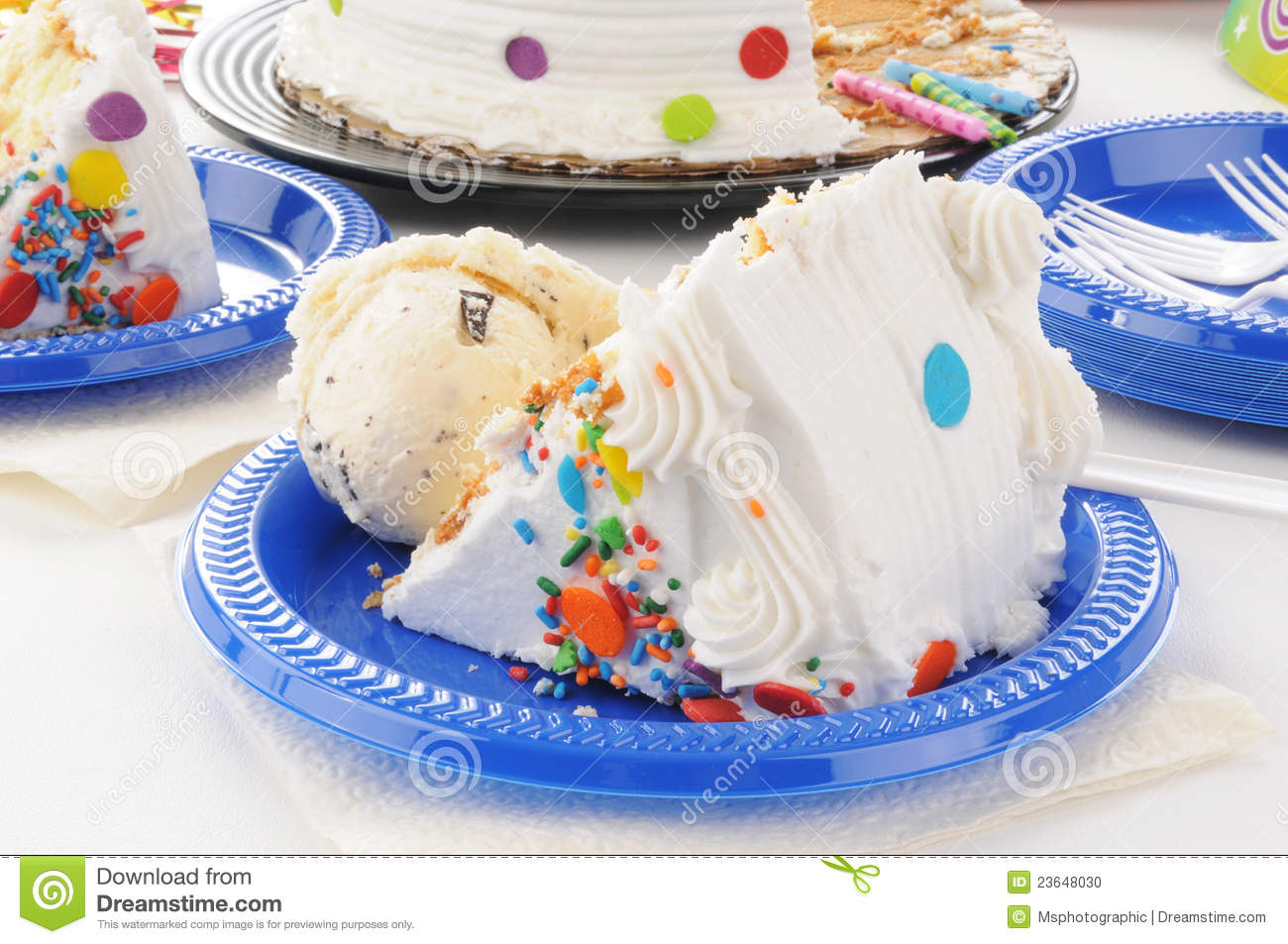 Incredible Birthday Cake And Ice Cream Stock Photo Image Of Frosting Treat Funny Birthday Cards Online Inifodamsfinfo