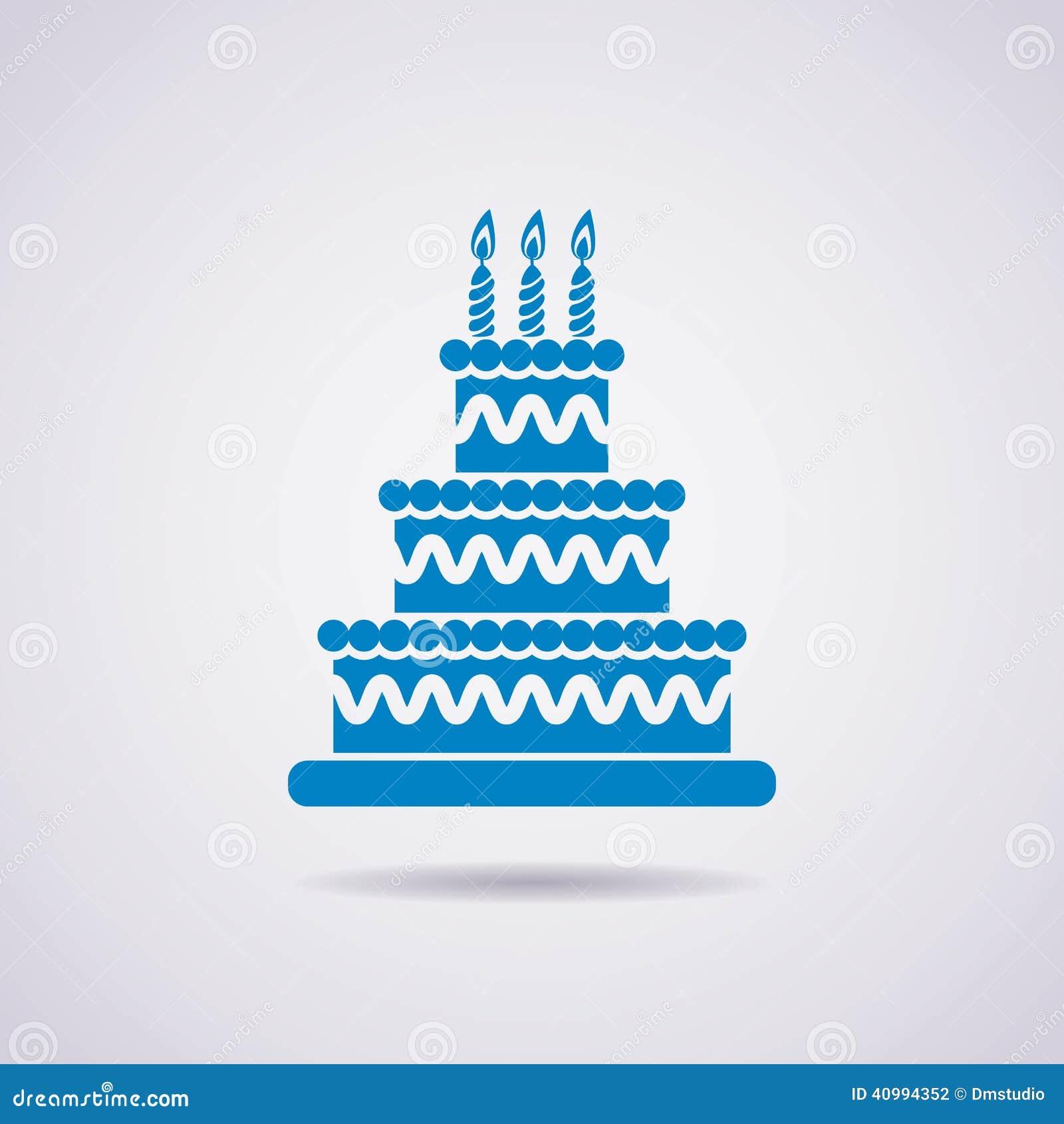 Birthday cake icon vector stock vector illustration of birthday cake icon vector buycottarizona